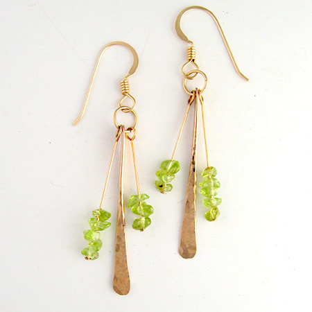 Peridot & Bronze Earrings